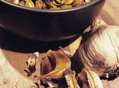 Black garlic pumpkin seeds