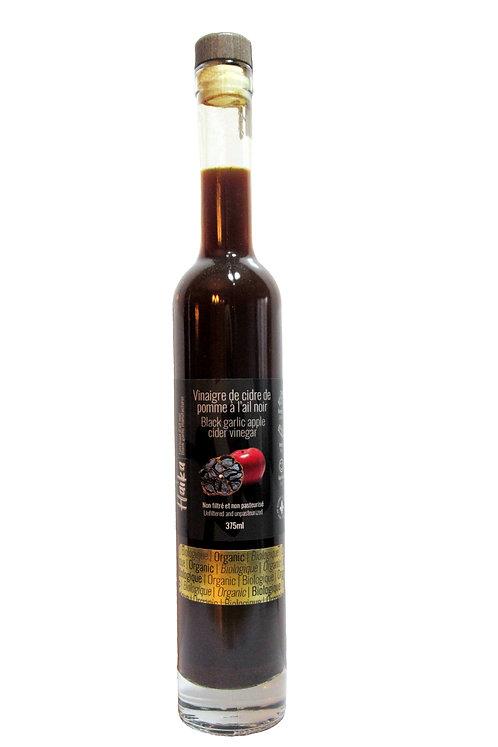 Vinaigre de cidre de pomme à l'ail noir biologique