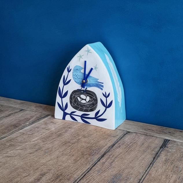 birdnest blue clock