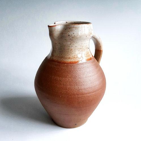Shino glazed jug