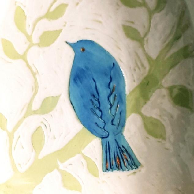 Bluebird shrine detail