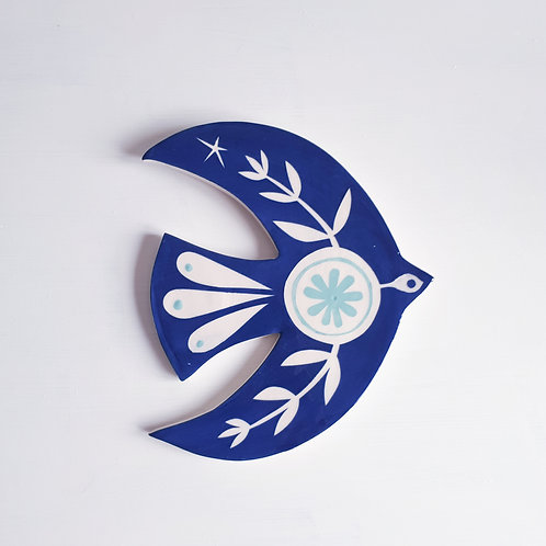 Navy bird wall plaque