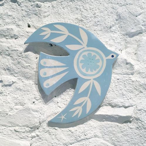 Sea blue bird wall plaque