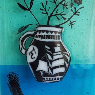 Burton jug glass panel