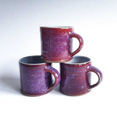 Coffee mug - red copper glaze