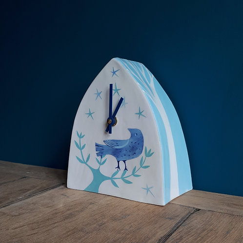 Love Is In The Air, bluebird + trees clock