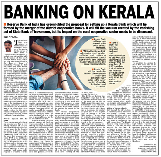 BANKING ON KERALA