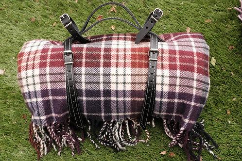 Picnic Saddle Straps in Black Leather