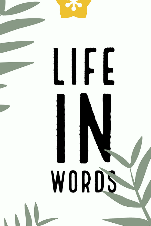 Life in Words Bookmark