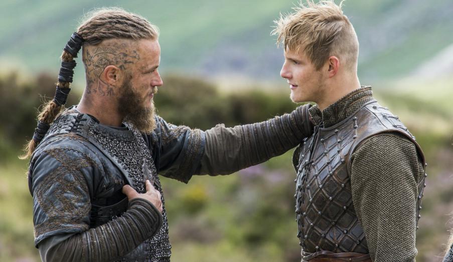 Ragnar e seu filho Bjorn - Vikings