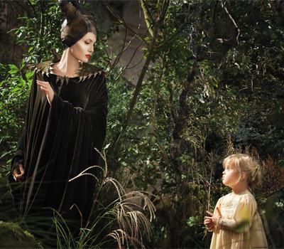 Malévola e a criança Aurora