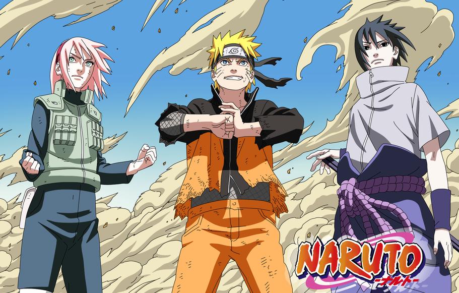 Naruto, Sakura e Sasuke