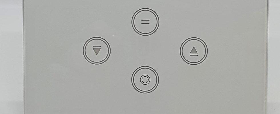 מתג תאורה + מתג תריס חכם, גוויס 3 מקום, צבע לבן