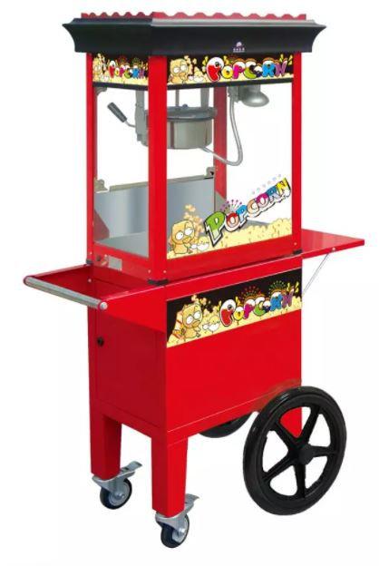 מכונת פופקורן מקצועית כוללת עגלה - להשכרה