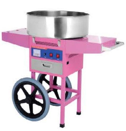 מכונת צמר גפן מתוק מקצועית כולל עגלה - להשכרה
