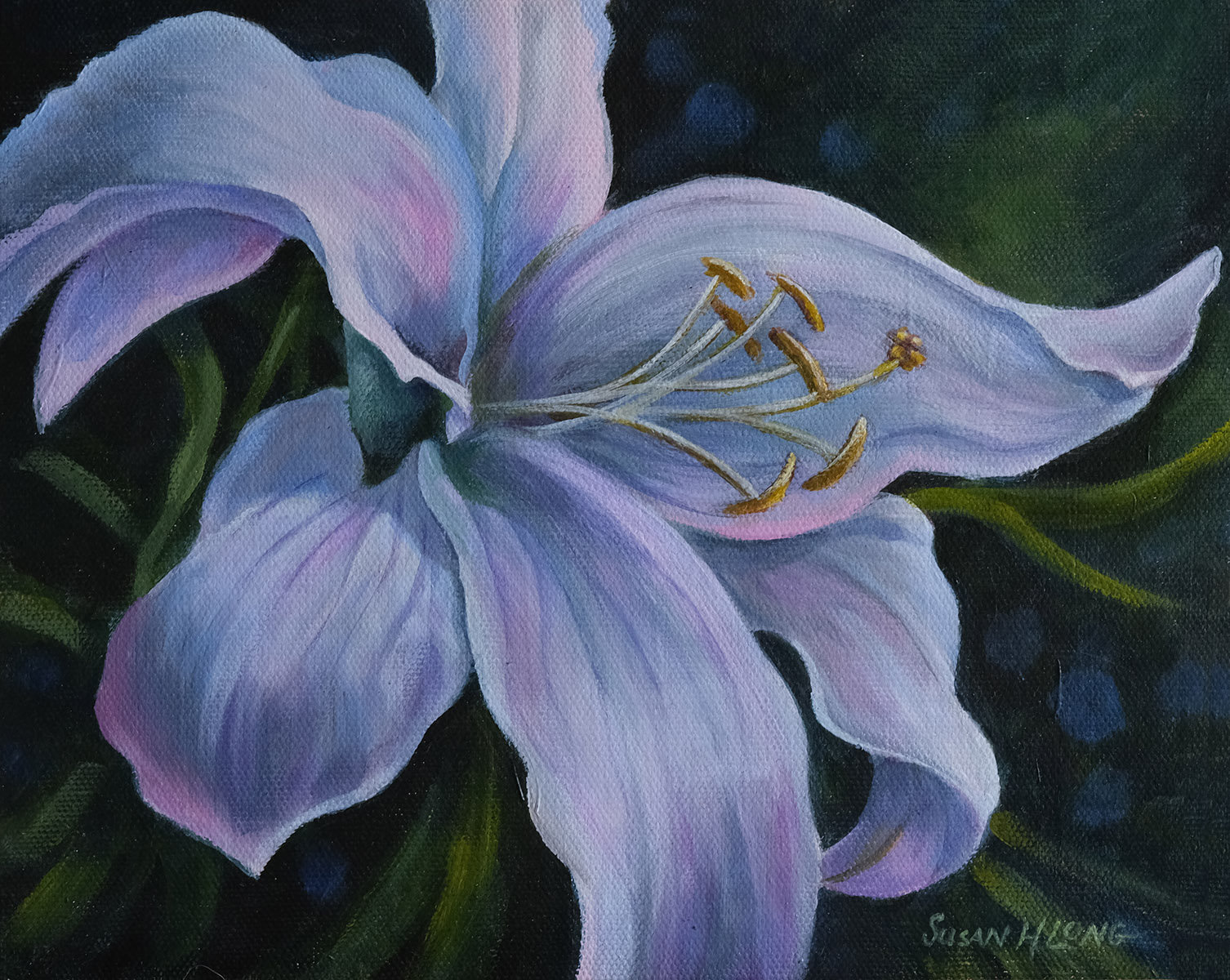 Lily Acrylic Workshop with Susan Long