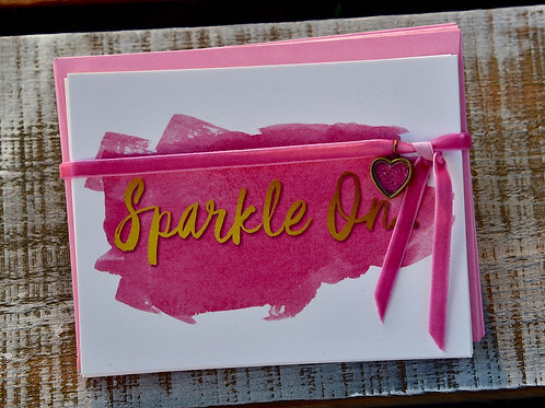Sparkle On Notecards (Set of 12 cards with envelopes)