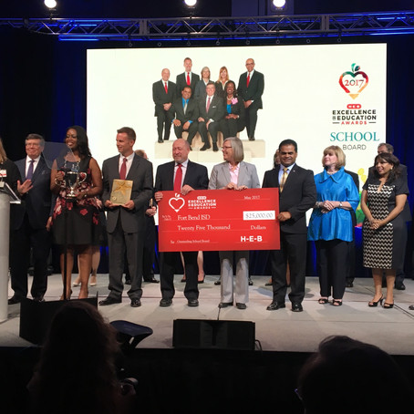 Fort Bend ISD Honored with HEB Excellence Education Award for Outstanding School Board