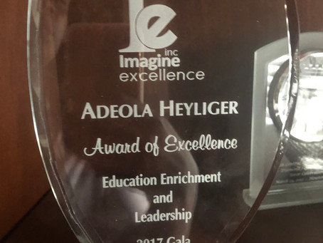 Addie Heyliger Earns the Imagine Excellence Award for Education Enrichment and Leadership
