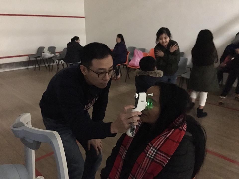 少數族裔社區驗眼活動