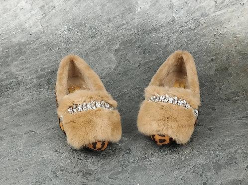 Köves Prém Leopárd mintás Cipő