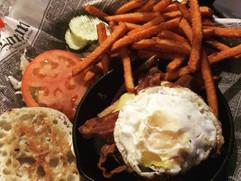 breakfast burger sweet potato fries