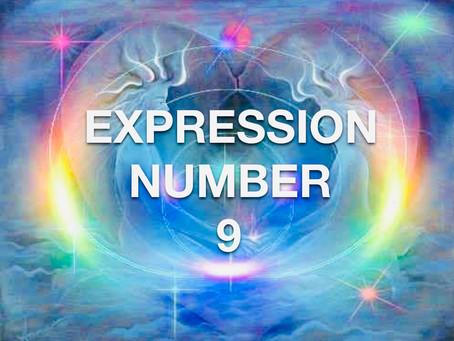 EXPRESSION NUMBER NINE               EGYPTIAN NUMEROLOGY