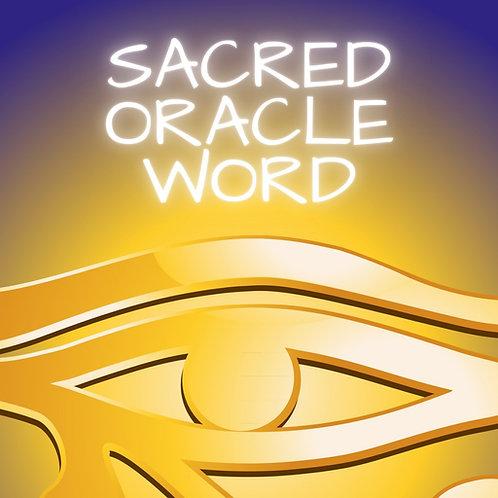 E-BOOK SACRED ORACLE WORD