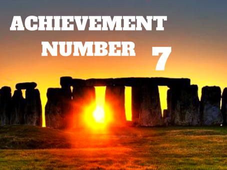 ACHIEVEMENT NUMBER SEVEN      EGYPTIAN NUMEROLOGY