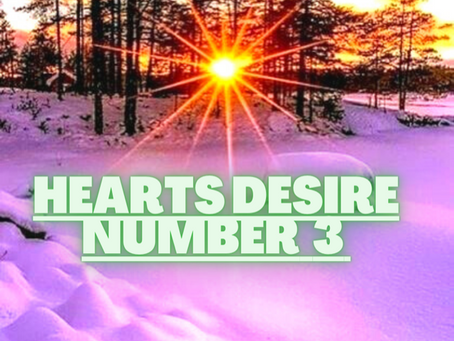 HEART'S DESIRE NUMBER THREE     EGYPTIAN NUMEROLOGY