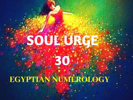 SOUL URGE NUMBER 30 EGYPTIAN NUMEROLOGY
