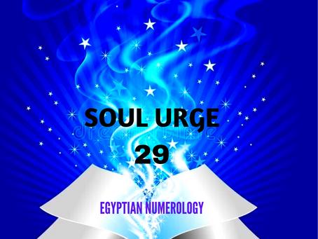 SOUL URGE NUMBER 29 EGYPTIAN NUMEROLOGY