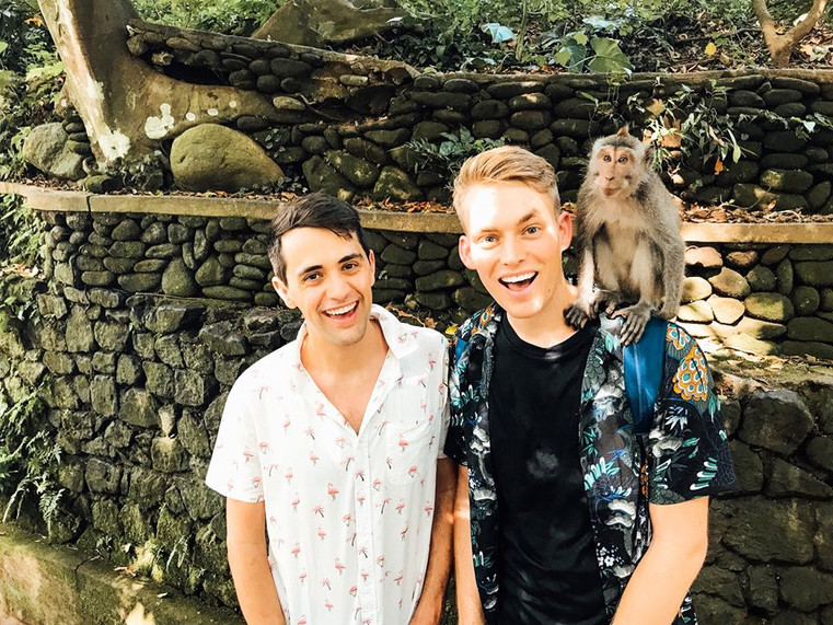 Will & James at Ubud Monkey Forest