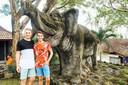 Elephant Statue at Goa Gajah