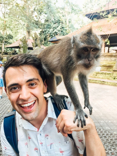 James at the Ubud Monkey Forest