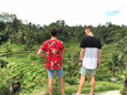 Will & James visiting Rice Terraces in Ubud!