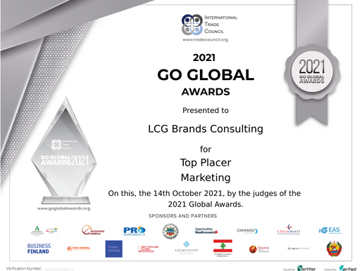 Announcement: LCG Brands Consulting named Top Placer for Marketing in the 2021 Go Global Awards