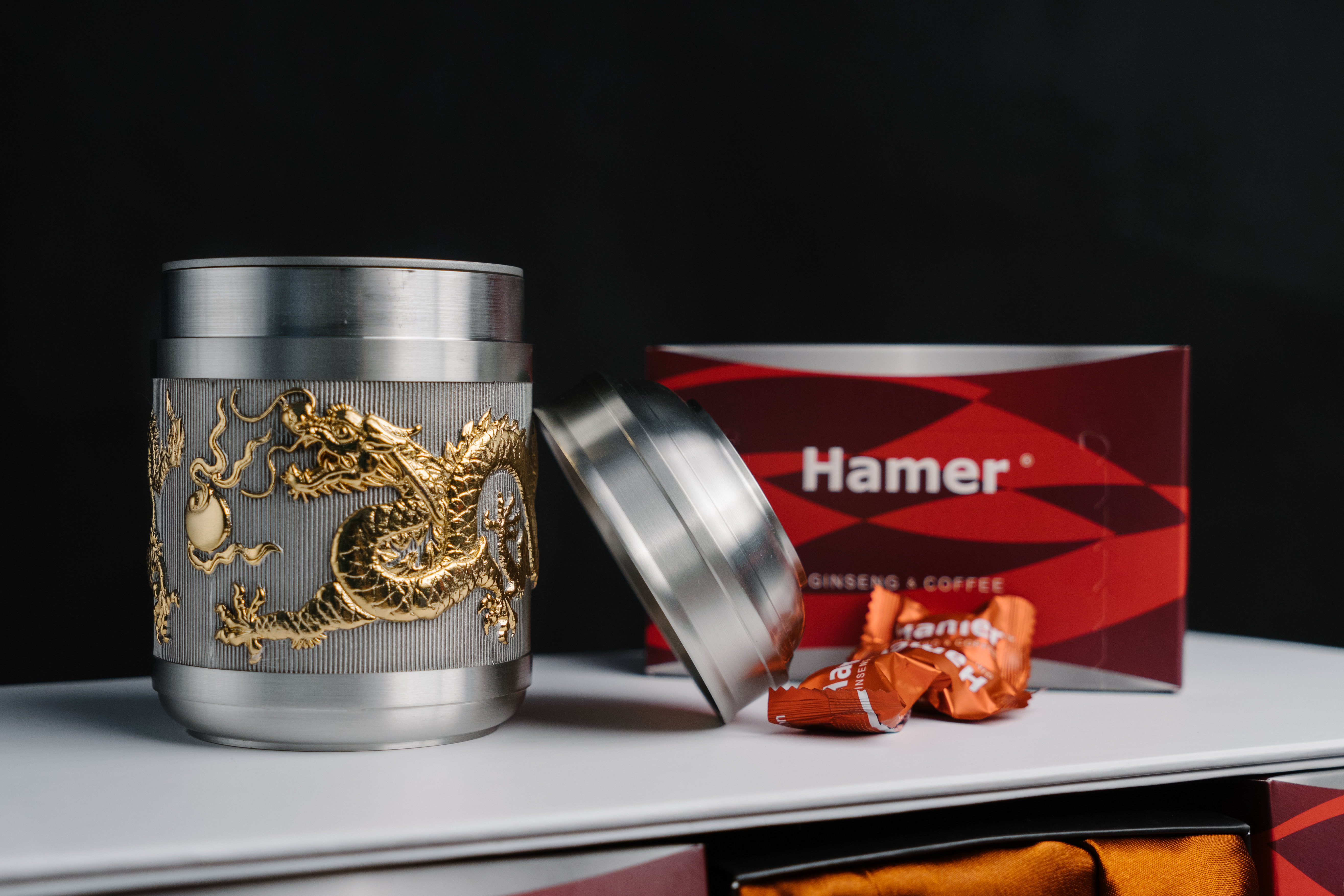 Hamer Golden Tea Caddy Promotion