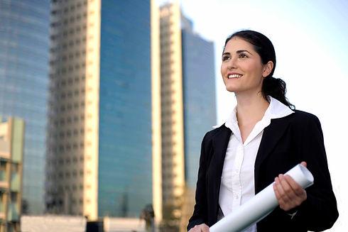 Geschäftsfrau Sicht