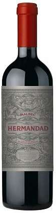 A bottle of Hermandad Malbec from Argentina
