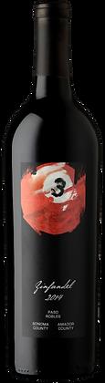 A bottle of Wine Hooligans – 3 Ball Zinfandel from California