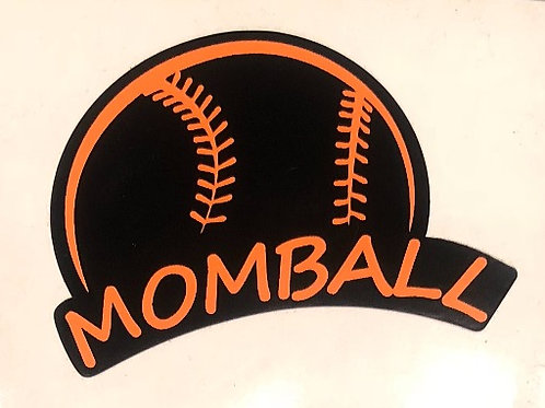 MomBall Sticker Black and Orange