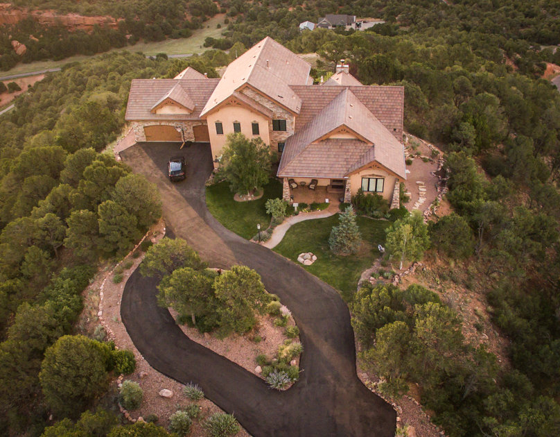 Front of Jim and Noni's House from Dron