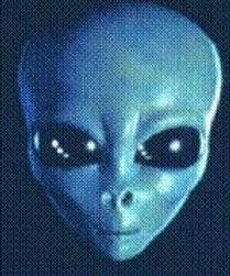 An extraterrestrial face, from description of man who worked at USAFB in Wright-Patterson Field in Ohio, possible examination site off the MO41 materials.