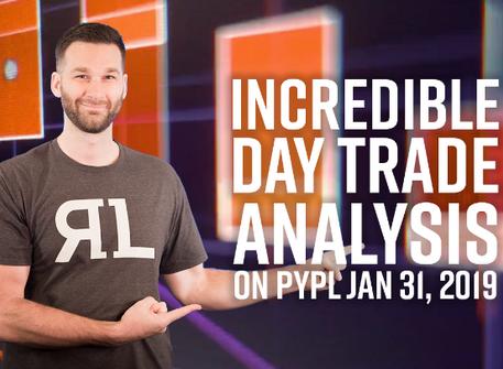 Incredible daytrade analysis on PYPL Jan 31st, 2019