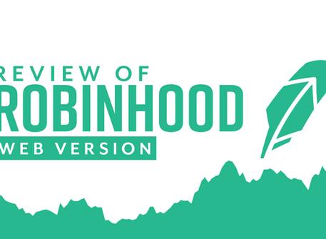 Review of Robinhood Web Version
