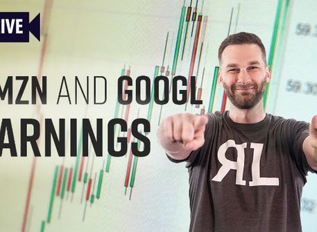 Review of AMZN and GOOGL Earnings + Swing trade Set Up on UTX