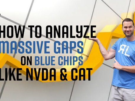 How to analyze massive gaps on blue chips like NVDA & CAT