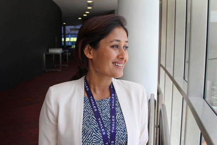 Priya attending the Safeskies Conference