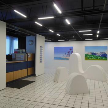 """Vue de l'exposition """"Pluie d'artifices"""", 2020, Centre d'art de Flaine"""